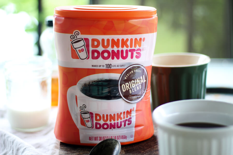 Dunkin' Donuts Original Blend Coffee in a new 30 ounce canister