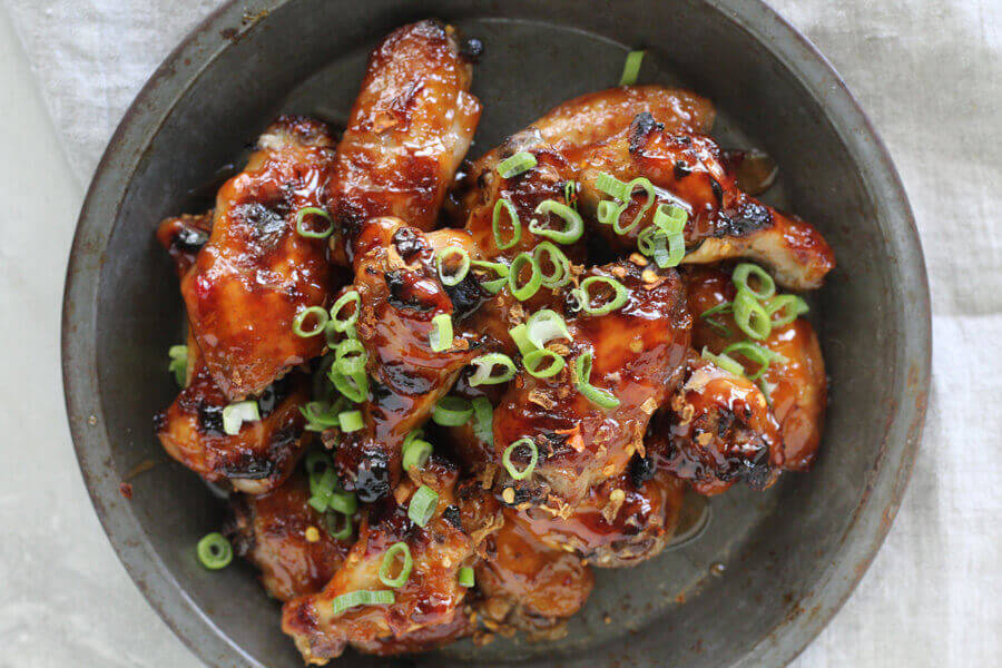 The ultimate appetizer : Thai Sticky Chicken Wings.