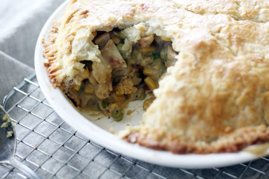 Homestyle Double Crust Chicken Pot Pie | Buy This Cook That