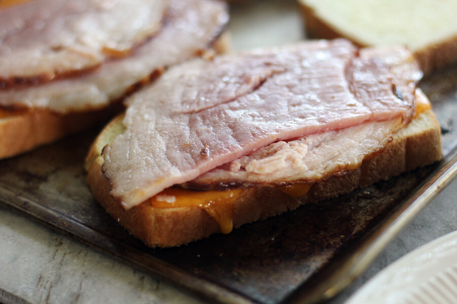 ham and melted cheese