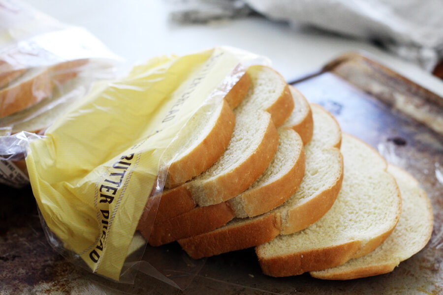 thick slices of country style butter bread