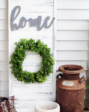 Rustic Wall Decor Shutter DIY Project