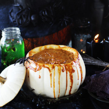 Halloween Chili Cheese RO*TEL Dip   Buy This Cook That - Halloween Chili Cheese RO*TEL Dip is chip after chip-ful of spicy-cheesy goodness that I cannot resist.
