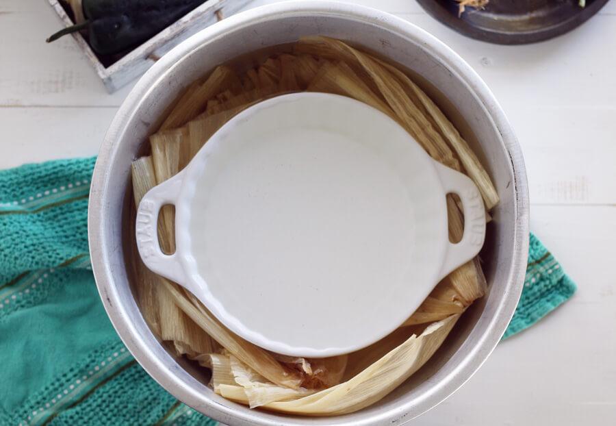 How to Make Tamales - Preparing the Corn Husks