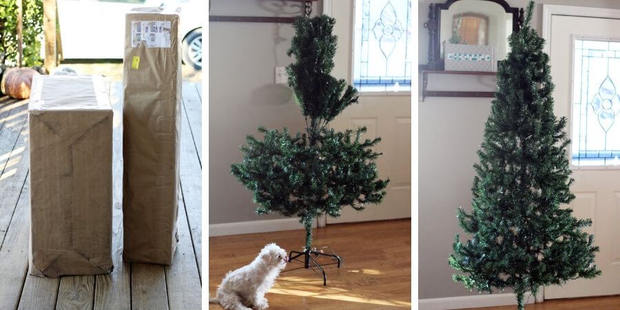 Fluffing an artificial tree