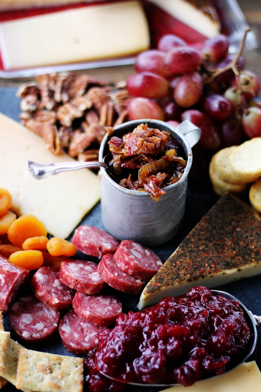 Delicious homemade Bacon Jam is perfect when paired with cheese, meats, and fruit.