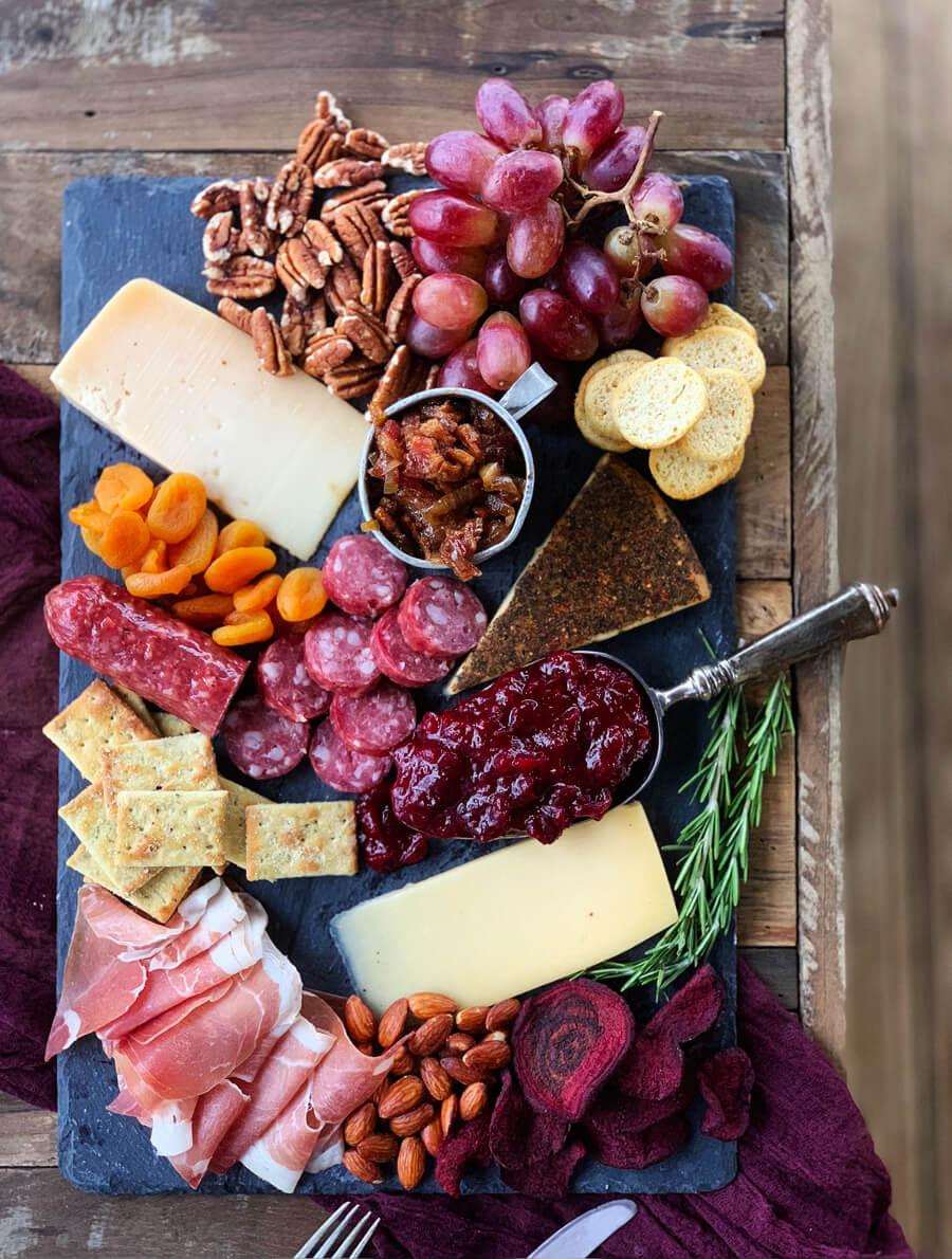 Gourmet Cheese Board + Homemade Bacon Jam