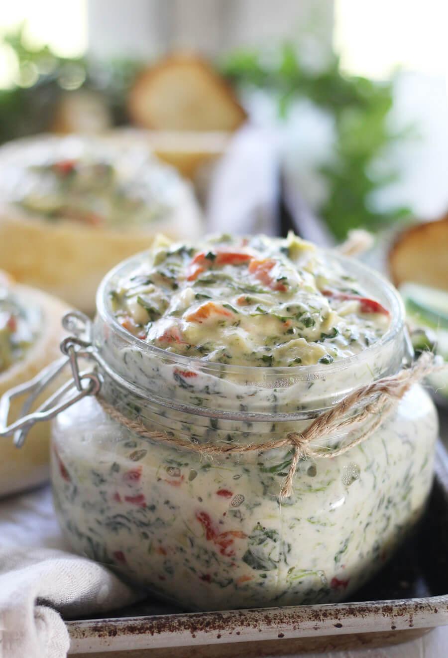 Three Cheese Spinach Artichoke Dip + Homemade Bread Bowls