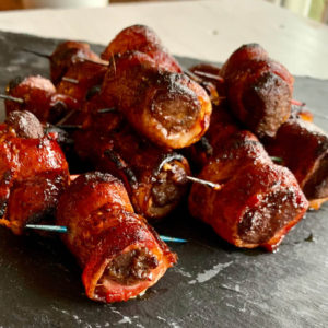 Bacon Wrapped Venison Bites | Buy This Cook That