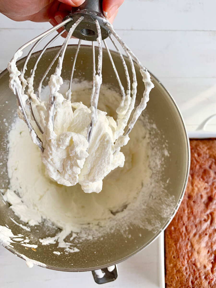 Homemade whipped frosting