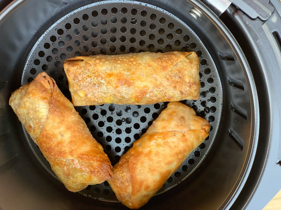 Golden crispy Homemade Air Fryer Egg Rolls