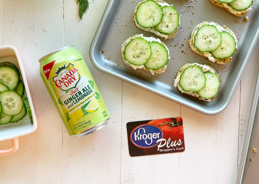Feta Dill Cucumber Crostini - The Perfect Staycation Snack