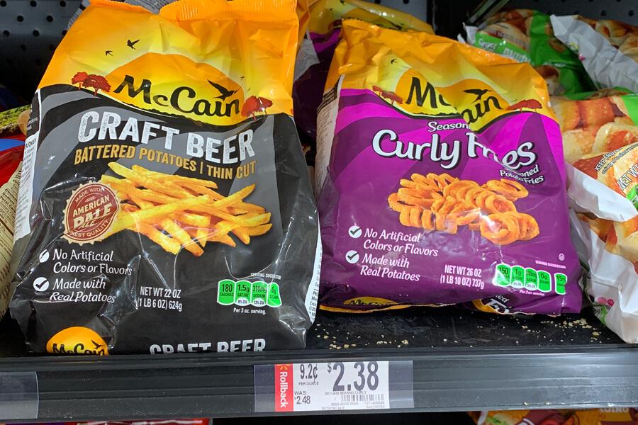 McCain Frozen Potatoes available at Walmart