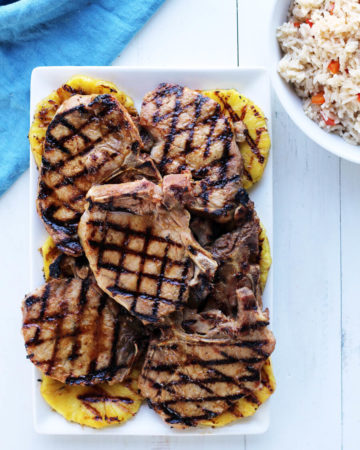 Hawaiian Pineapple Grilled Pork Chops   Buy This Cook That