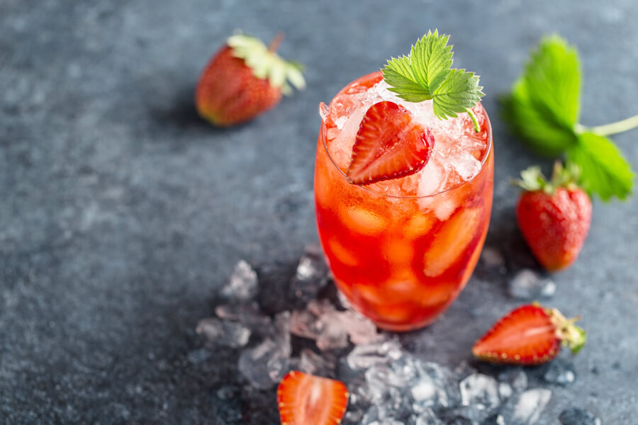 Strawberry Mint Rum Cocktails | Buy This Cook That