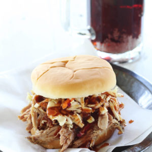 Slow Cooker Pulled Pork Sandwiches with Root Beer BBQ Sauce