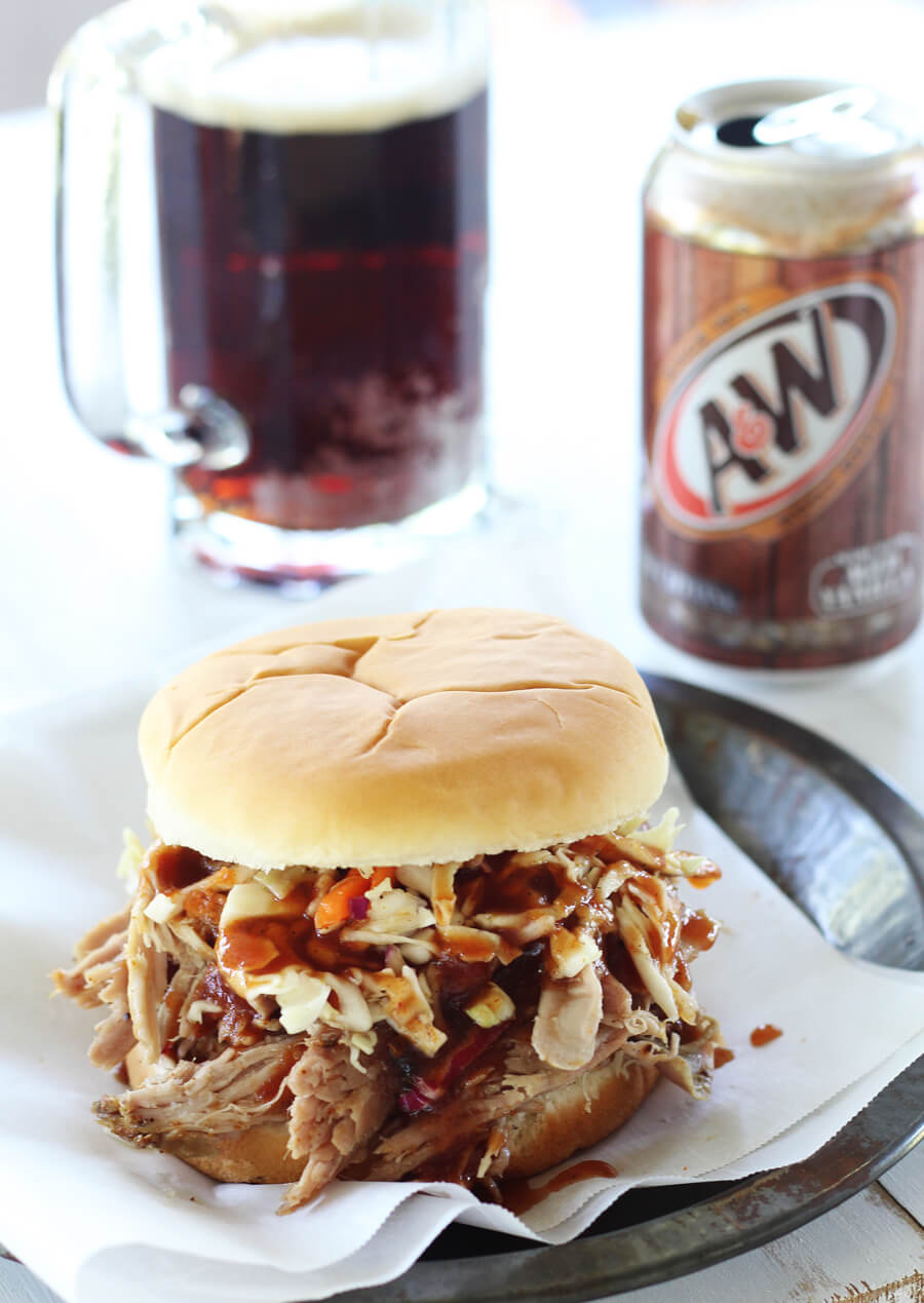 Slow Cooker Pulled Pork Sandwiches with Root Beer BBQ Sauce   Buy This Cook That