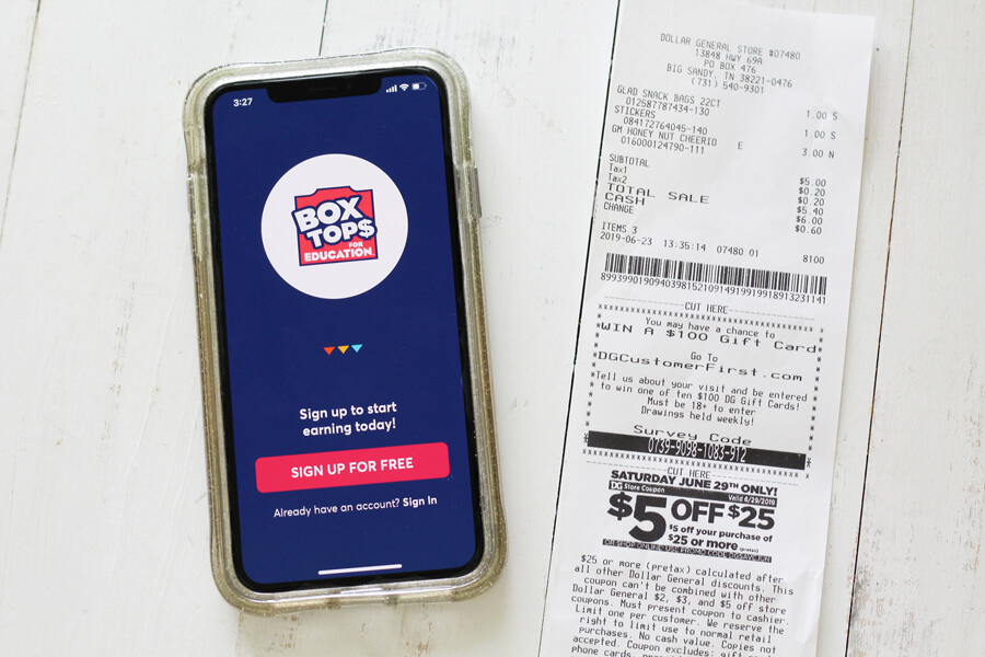 Box Tops for Education Mobile App