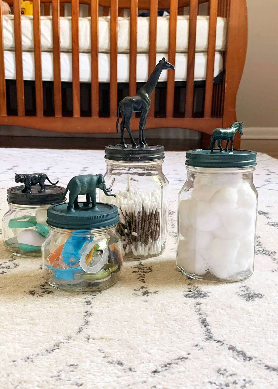 Safari Animal Mason Jars