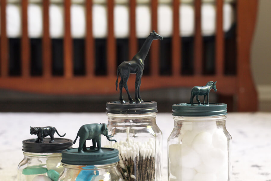 Safari Animal Mason Jars