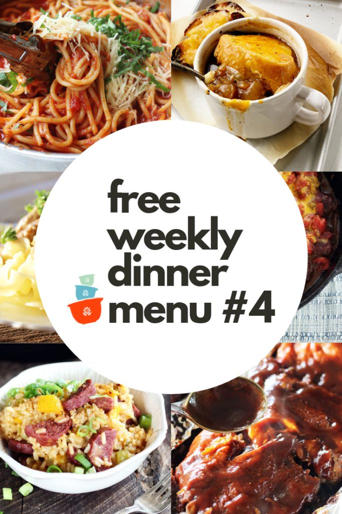 Free Weekly Dinner Meal Plan #4