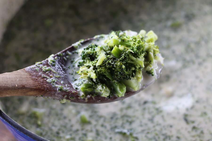 chopped tender broccoli