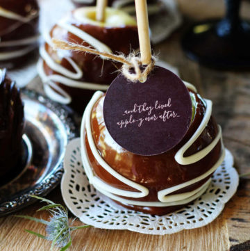 Caramel Apple Wedding Favors