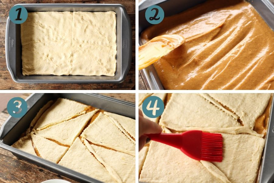 a step by step picture collage of how to make this dessert recipe