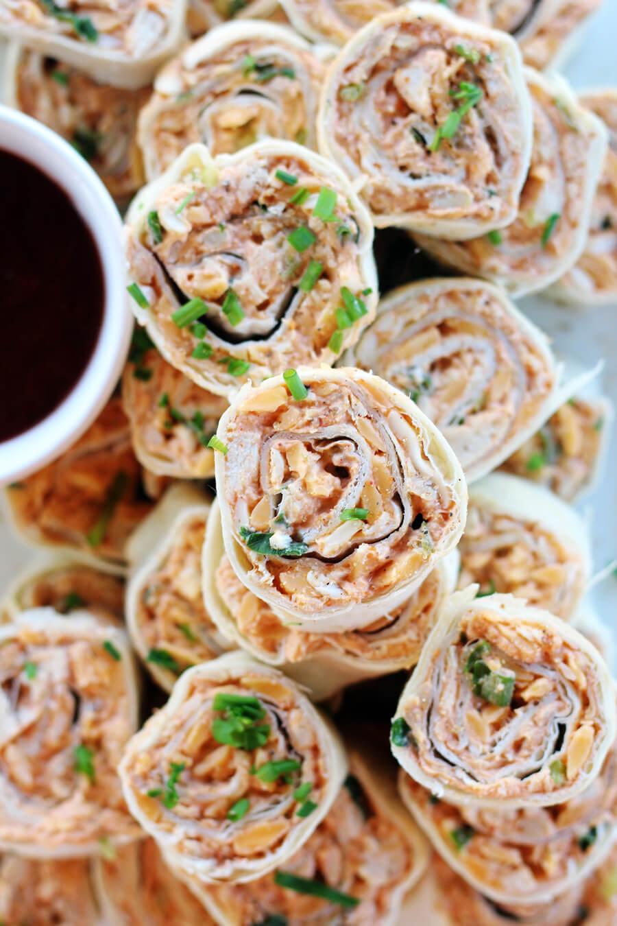 BBQ Chicken Cheddar Pinwheels