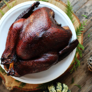 Cider Brined Smoked Turkey is a hit at your holiday table. Succulent, smoky, and juicy turkey every time.