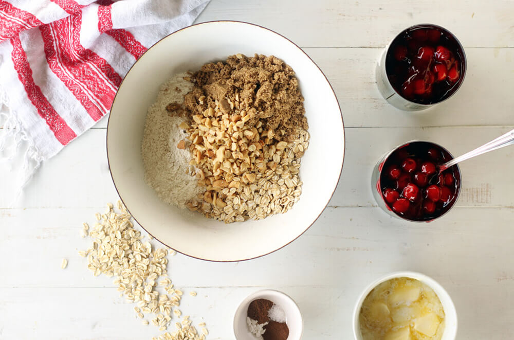 Hot Cherry Crumble