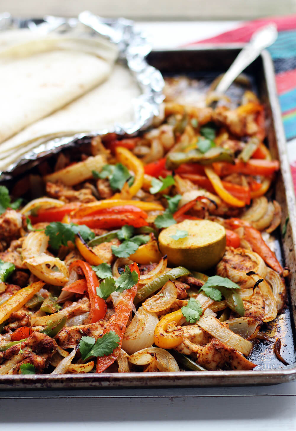 Spicy Sheet Pan Chicken Fajitas
