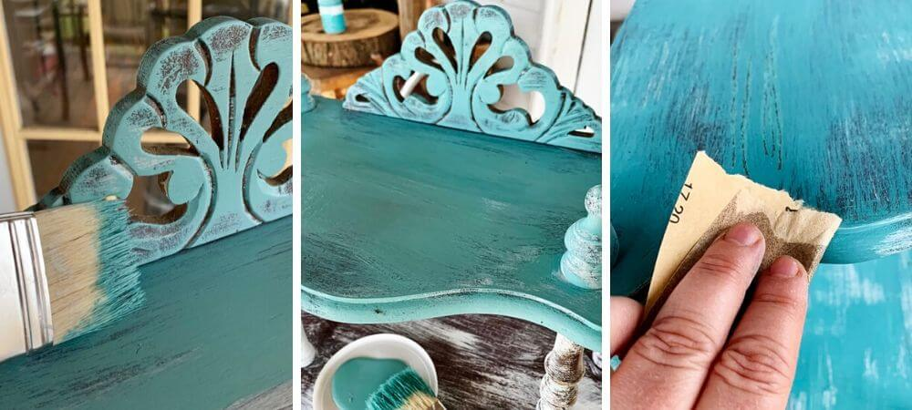 how to get a layered vintage look using chalk paint