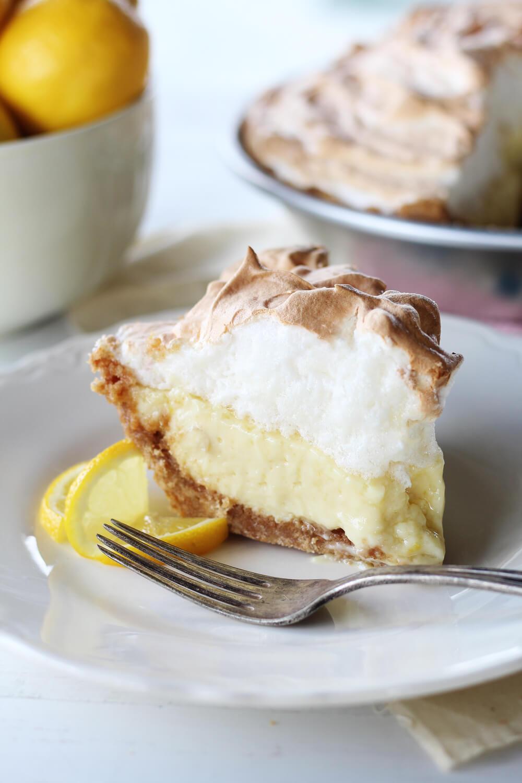 Lemon Ice Box Pie with Sweet Meringue Topping