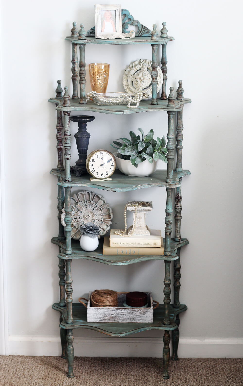 Makeover a Vintage Shelf with Layered Chalk Paint and Wax