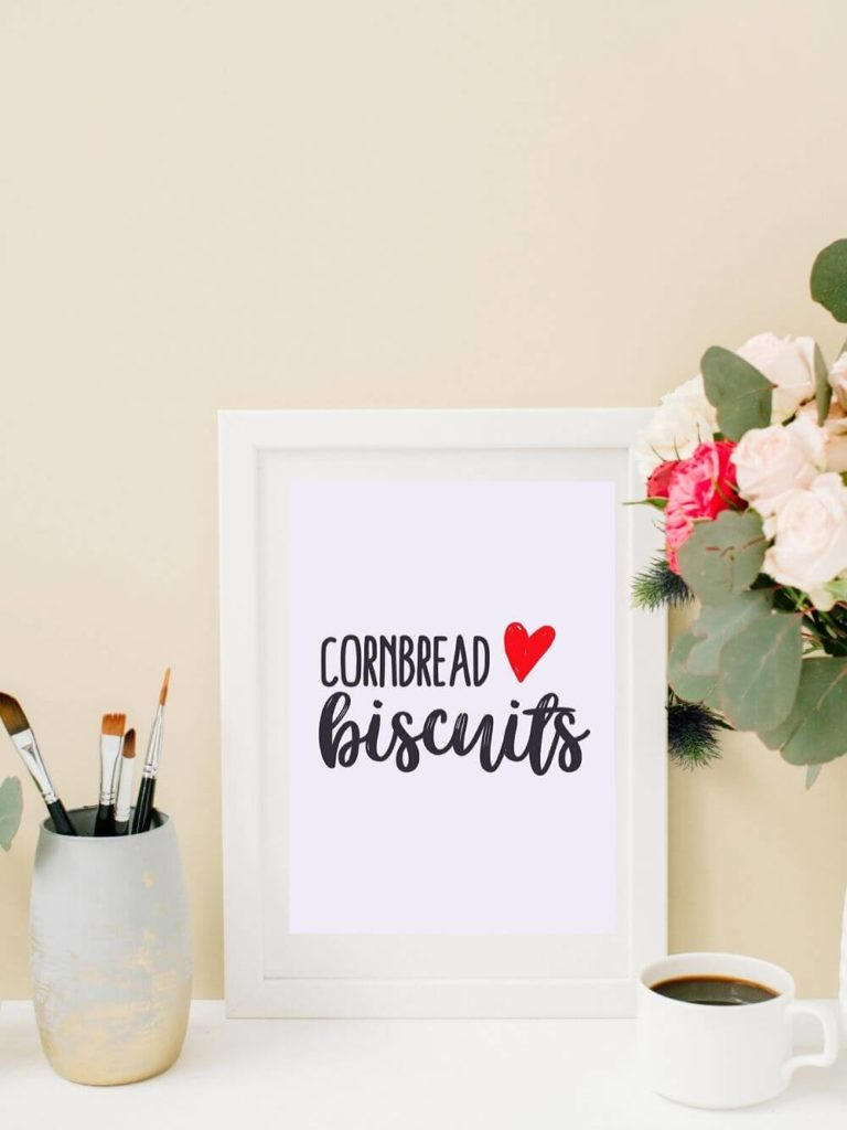 Cornbread + Biscuits - Southern printable wall art