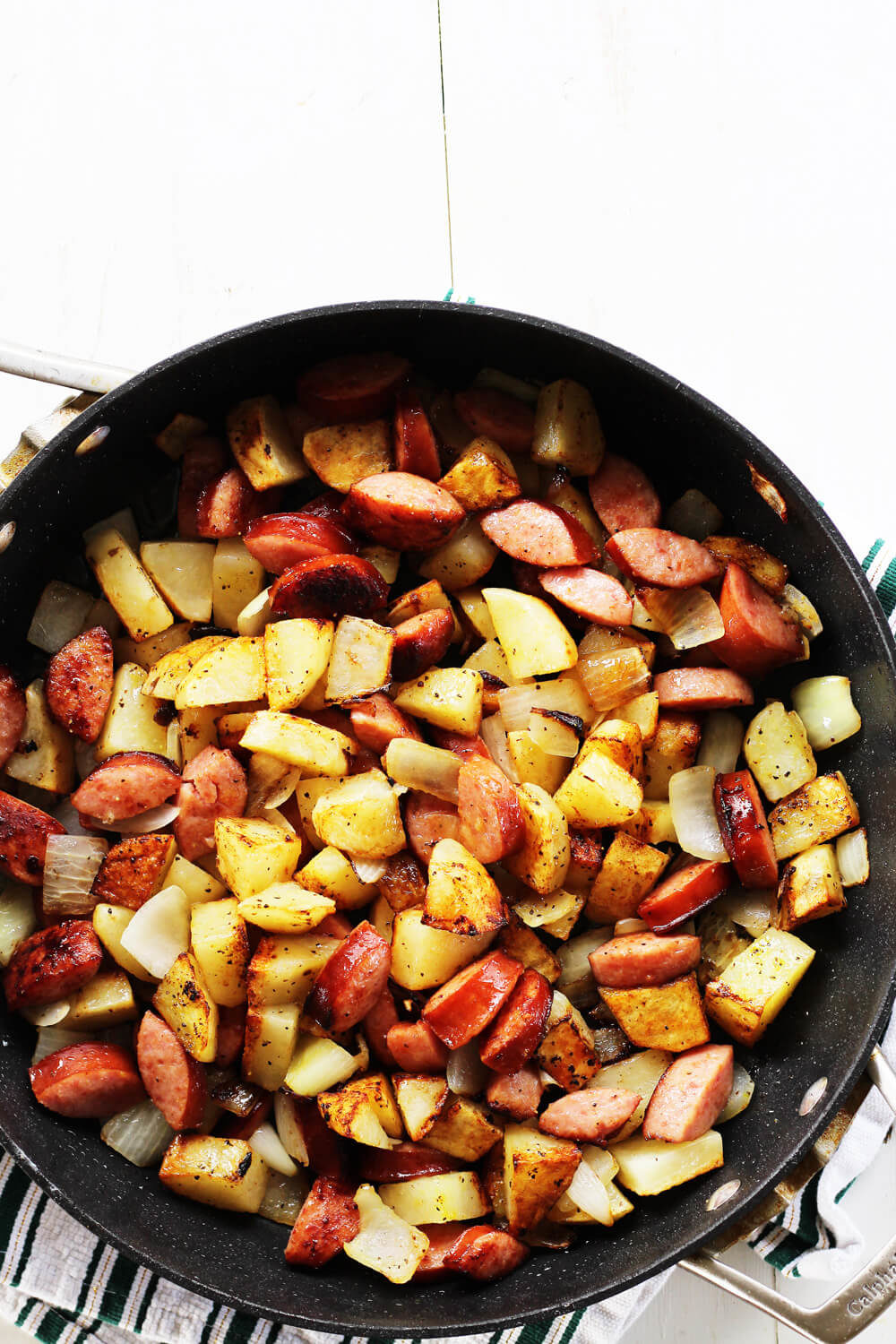Lemon Pepper Kielbasa and Potatoes