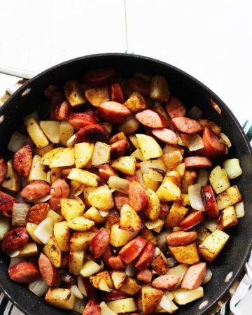 Lemon Pepper Kielbasa and Potatoes