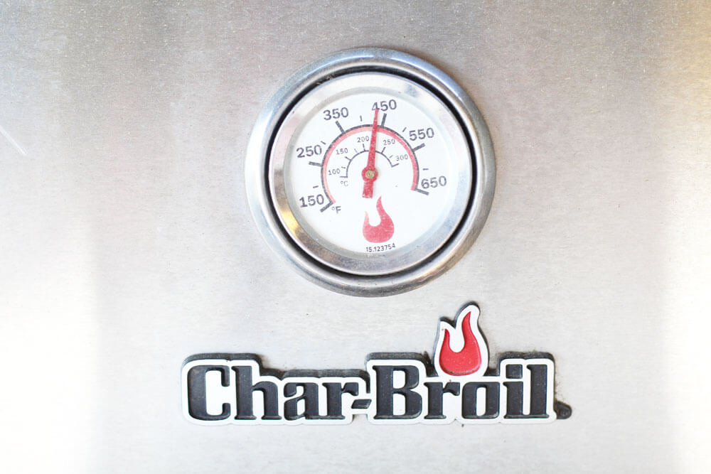 temperature gauge on a grill