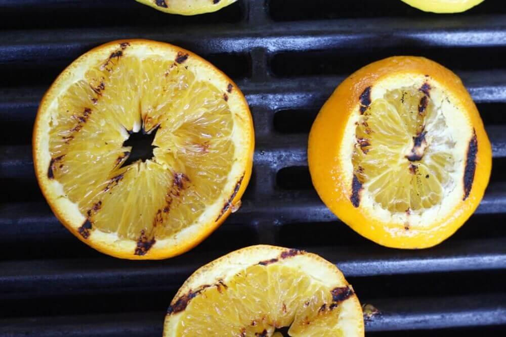 charred orange slices