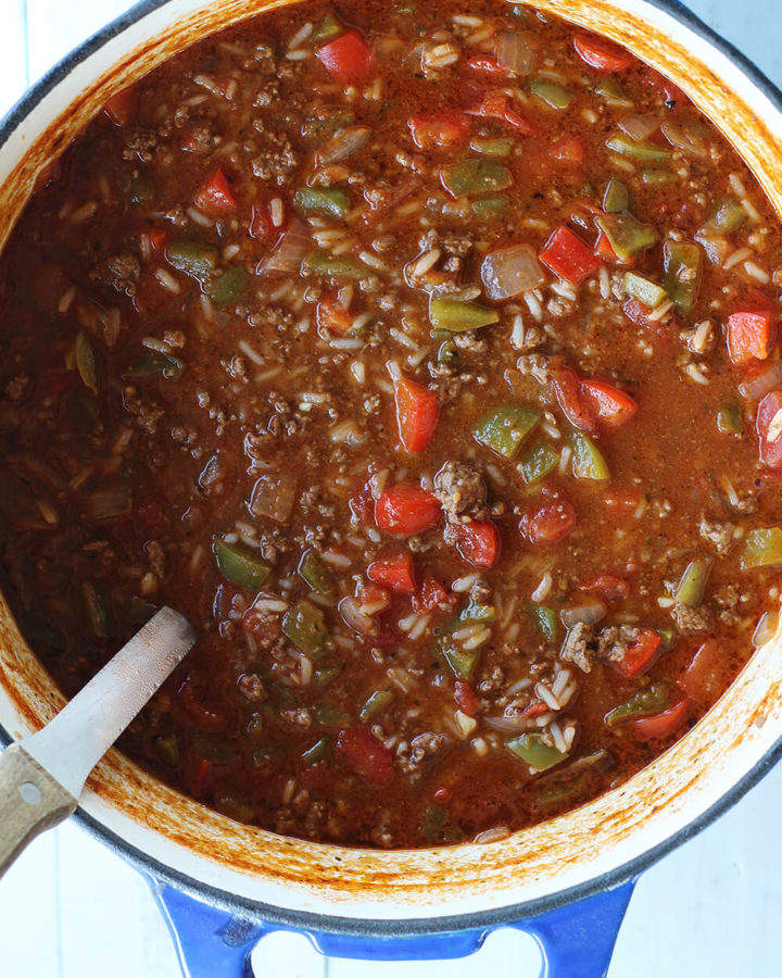 a large pot with soup