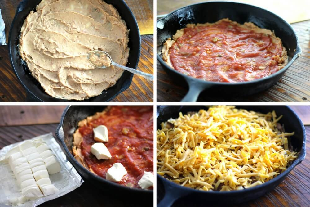 a collage of pictures showing how to assemble this recipe
