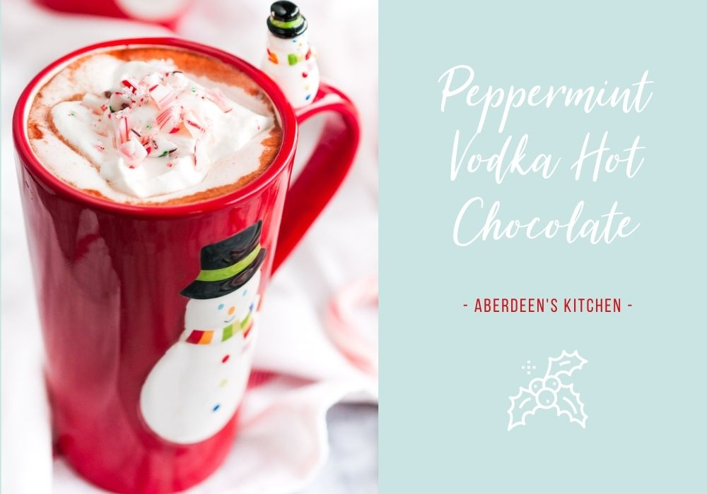 Peppermint Vodka Hot Chocolate