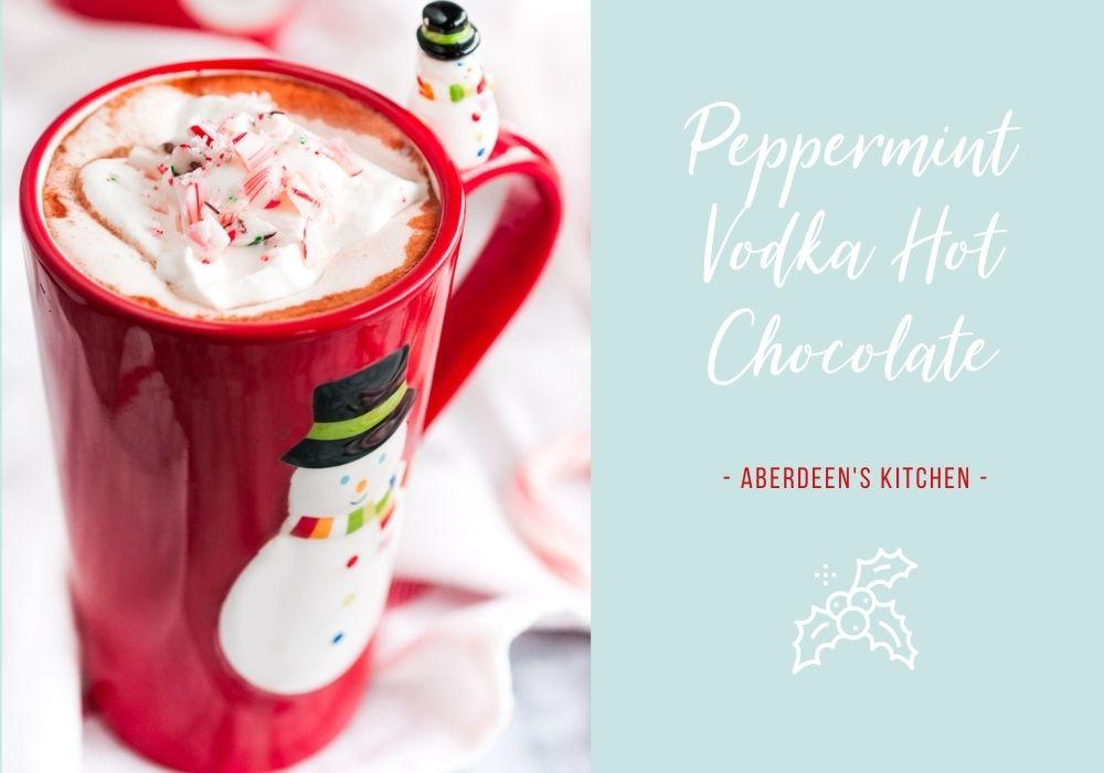 Peppermint Vodka Hot Chocolate