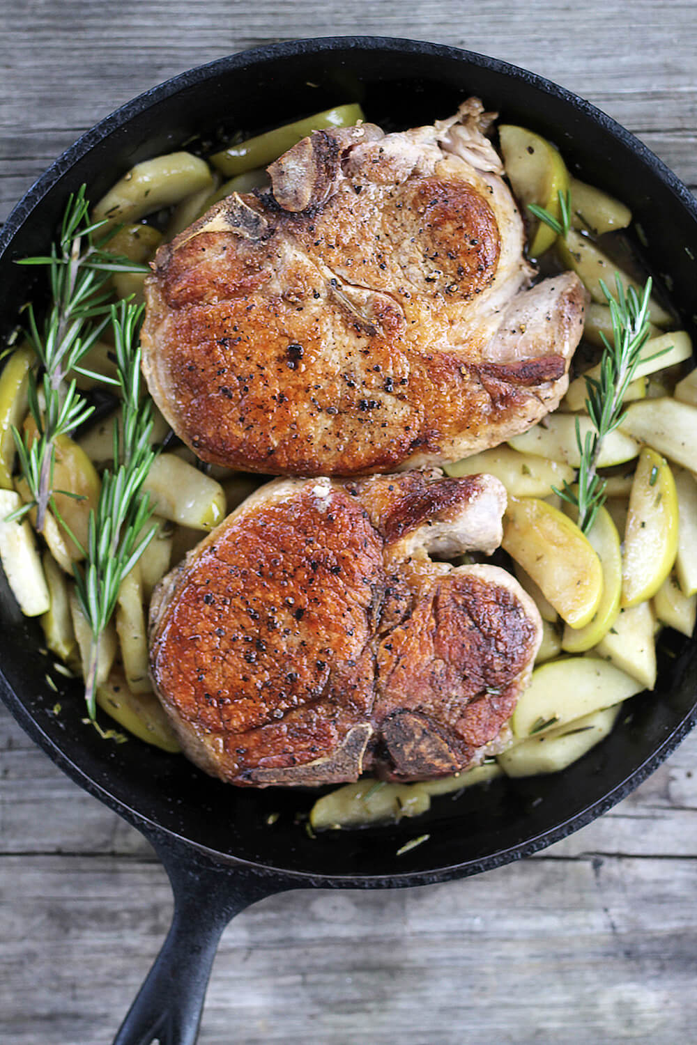 Rosemary Pork Chops with Apples
