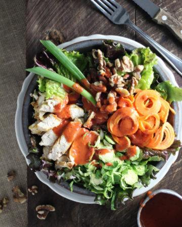 Winter Salad with Cranberry Chipotle Vinaigrette