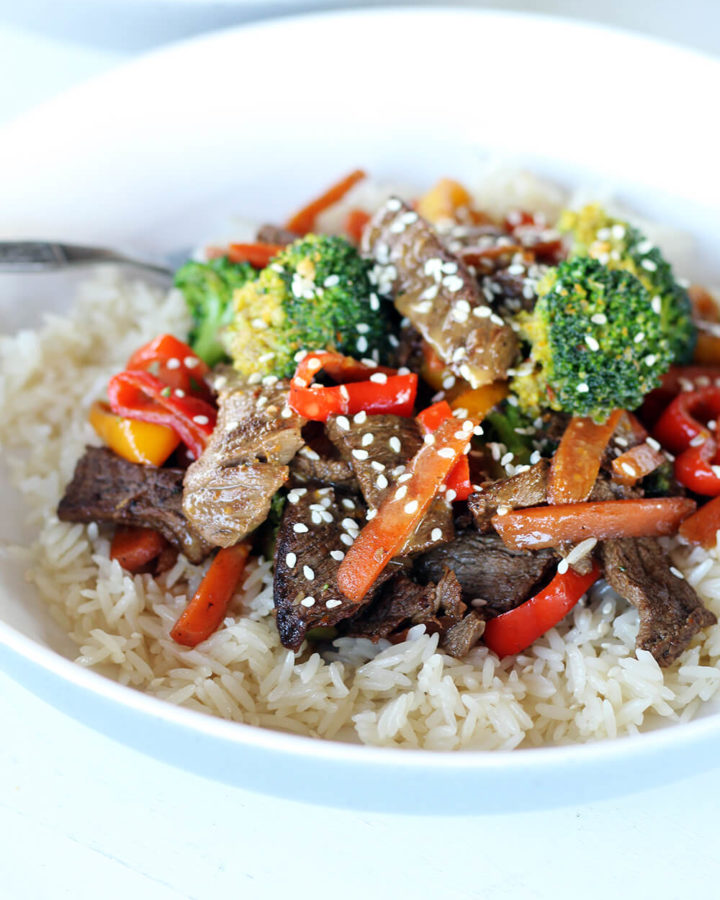 Zesty Citrus Steak + Rice Bowls
