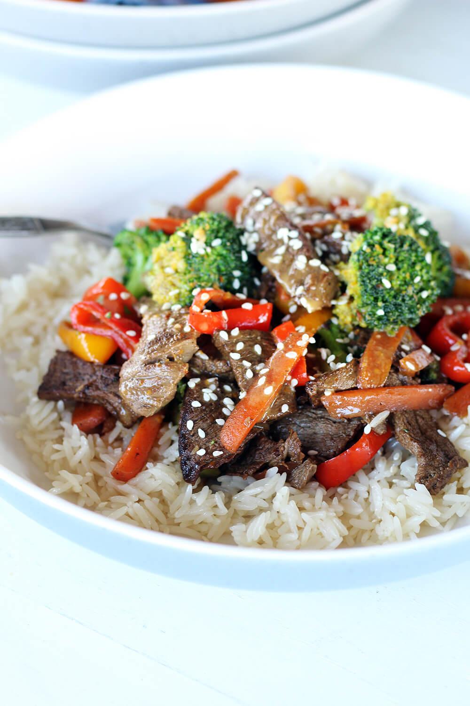 Zesty Citrus Steak + Rice Bowls
