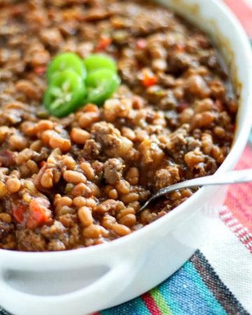 Beefy Cowboy Beans