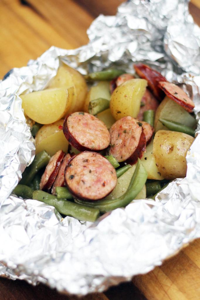 Potato and Smoked Sausage camp recipe
